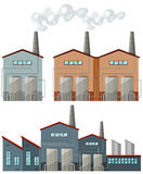 Factory buildings with chimneys Royalty Free Stock Photo