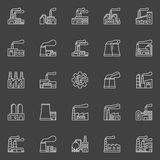 Factory buildings icons Royalty Free Stock Images