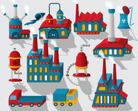 Factory - buildings and other objects Royalty Free Stock Image