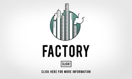 Factory Built Scructure Organization Industrial Concept Royalty Free Stock Image
