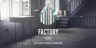 Factory Built Structure Organization Industrial Concept Royalty Free Stock Photography