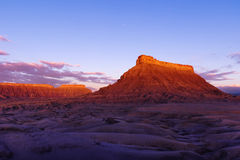 Factory Butte. At Dawn, Caineville, UT stock image