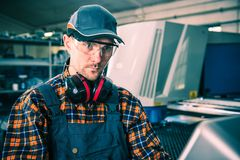 Factory Caucasian Worker royalty free stock photo