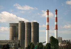 Factory with Chimney Stock Photo