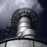 Factory Chimney. Smoke from a factory chimney Royalty Free Stock Photos