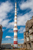 Factory chimney Stock Images
