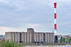 Factory with chimney Royalty Free Stock Image