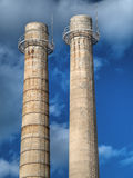 Factory chimneys. Royalty Free Stock Photography