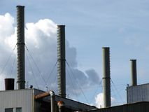 Factory chimneys Stock Photos