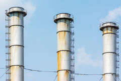 Factory Chimneys Of Coal Power Plant Royalty Free Stock Photography