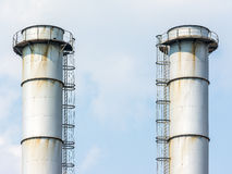 Factory Chimneys Of Coal Power Plant Royalty Free Stock Photos