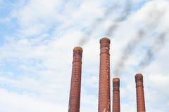 Factory chimneys Royalty Free Stock Photos