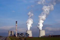 Factory chimneys smoke. Royalty Free Stock Photo