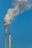 Factory chimneys with smoke Royalty Free Stock Photo