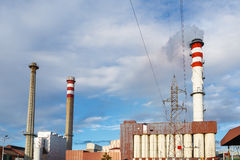 Factory chimneys Royalty Free Stock Images