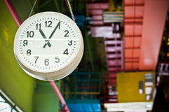 Factory clock Stock Image