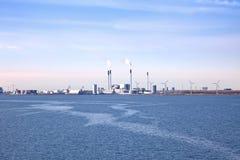 Factory on the coast of Denmark Stock Image