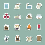Factory color icons Royalty Free Stock Photos