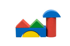 Factory from colored wooden toys Royalty Free Stock Photos