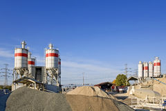 Factory of concrete. Europe. Royalty Free Stock Photography