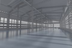 Factory construction 3d render stock images