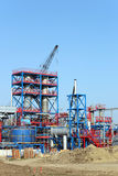 Factory construction site with crane Royalty Free Stock Photo