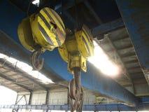 Factory crane hook Stock Photos
