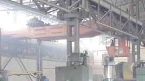 Factory Overhead Crane Inside A Factory Building  Stock