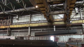 Factory crane stock video