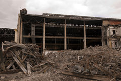 Factory during demolition Royalty Free Stock Image