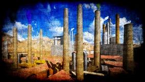 Factory on desert Stock Images