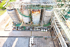 Factory detail. Factory area plant of petrochemical Royalty Free Stock Image