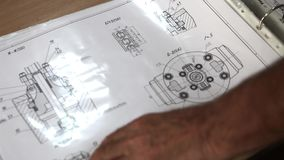 FACTORY DETAIL DRAWINGS. stock video