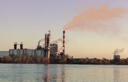 Factory at dusk Stock Photo