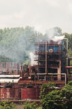 The factory emission. In the production of smelting factory in China stock photos