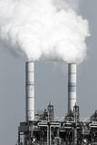 Factory emission. Smoke emission from factory pipes Stock Images
