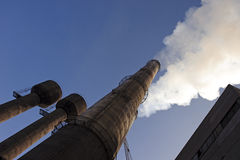 Factory on enriching of iron-stone. Extra of exhaust gases after  of the enriched ore in an atmosphere Stock Images