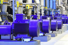 Factory equipment.Industrial business. Electric motor. Stock Image