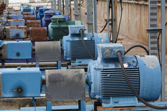 Factory equipment motor industrial Stock Photos
