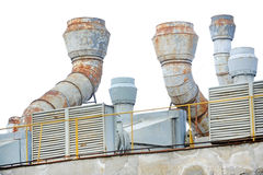 Factory exhaust pipes Stock Image