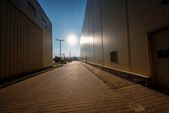 Factory exterior of a bottling facility Stock Photos