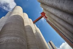 Factory exterior on sunny day Royalty Free Stock Photo