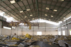 Factory farming. Condition of the old factory were abandoned until have state of disrepair stock photography
