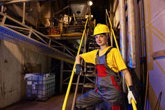 Factory female worker Stock Image