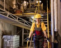 Factory female worker Stock Photos