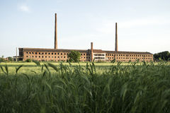 Factory on the field Royalty Free Stock Images