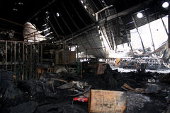 After factory fire Stock Image