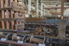 Factory floor of thread mill Stock Images