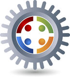 Factory friend logo Royalty Free Stock Images