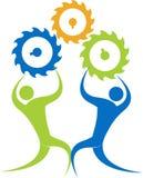 Factory friends stock illustration